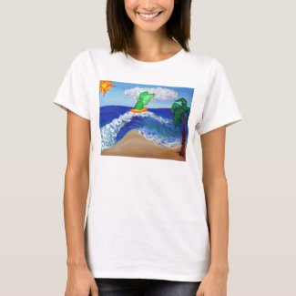 Surfing Angel Raphael Shirt