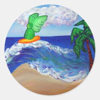 Surfing Angel Raphael Sticker