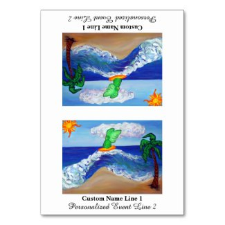 Surfing Angel Raphael Table Tent Card