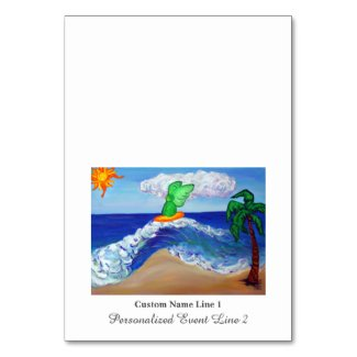 Surfing Angel Raphael Table Tent Cards