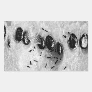 surfing ants rectangular stickers