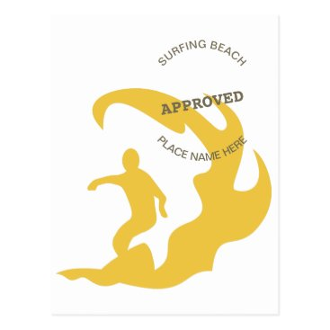 Surfing Approved Postcard