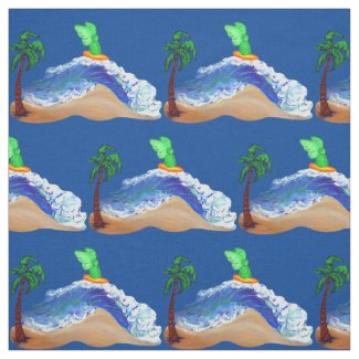 Surfing Archangel Raphael Art Fabric Material