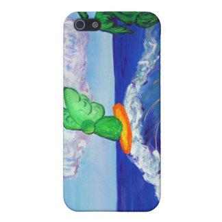 Surfing Archangel Raphael on Waves iPhone 4 Case