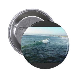 Surfing At Ocean Beach Pinback Button