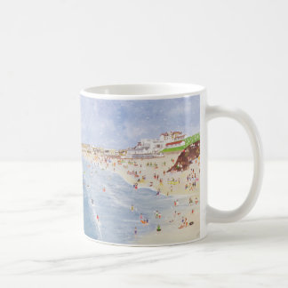 Surfing at Porthmeor Coffee Mug