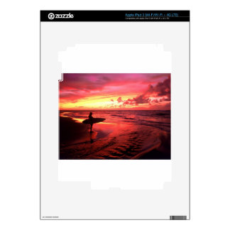 Surfing At Sunset iPad 3 Decal