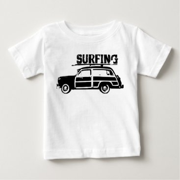 Toddler & Baby themed Surfing Baby Baby T-Shirt