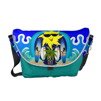 Surfing Beach Courier Bag