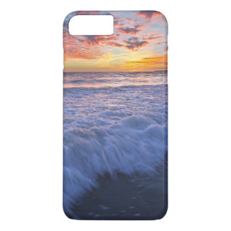 Surfing beach waves at sunset iPhone 7 plus case