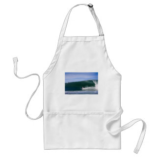 Surfing big green wave paradise tropical coast aprons