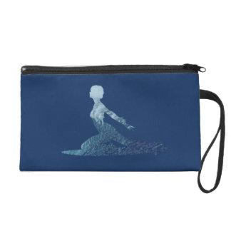 Surfing Big Wave Surfer Girl Silhouette Wristlet Purse