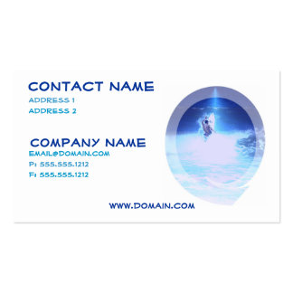 Surfing Big Waves Business Card