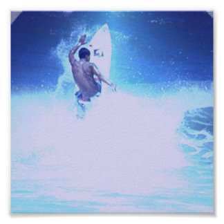 Surfing Big Waves Print