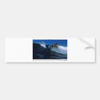 Surfing Birds Bumper Sticker
