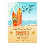 Surfing Birthday Invitation Surf's Up Beach party