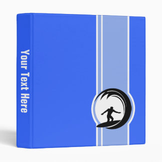 Surfing; Blue 3 Ring Binder
