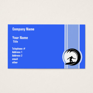 Surfing; Blue Business Card