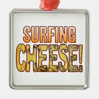 Surfing Blue Cheese Metal Ornament