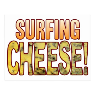 Surfing Blue Cheese Postcard