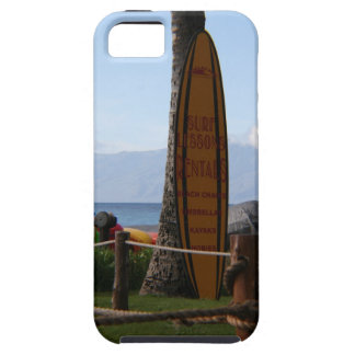 Surfing Board in Maui, Hawaii iPhone Case iPhone 5 Cases