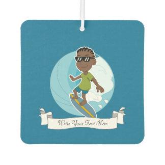 Surfing boy cartoon