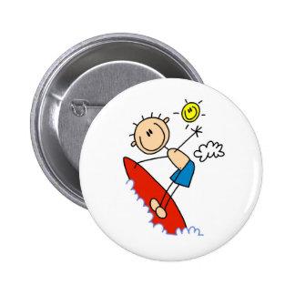 Surfing Boy Stick Figure Buttons