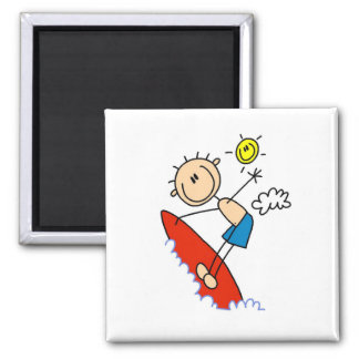 Surfing Boy Stick Figure Magnets