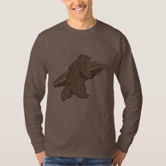 Surfing Brown Bear T Shirt