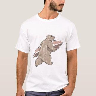 Surfing Brown Bear T-Shirt