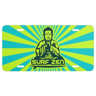 Surfing Buddha license plate - Surf Zen