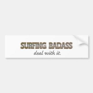SURFING BUMPER STICKER
