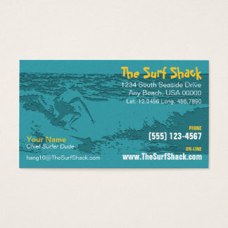 Surfing Business Card