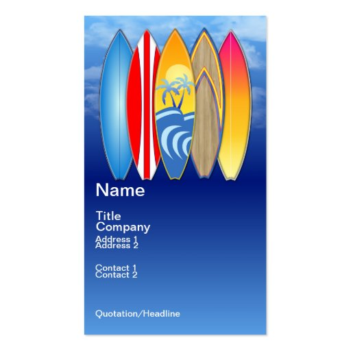 Surfing Business Card Templates