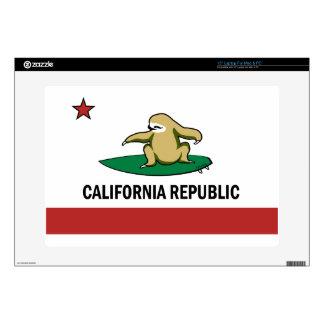 """Surfing Cali Sloth 15"""" Laptop Skin"""