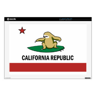 """Surfing Cali Sloth Decals For 17"""" Laptops"""