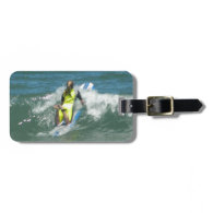 Surfing Chica Luggage Tag