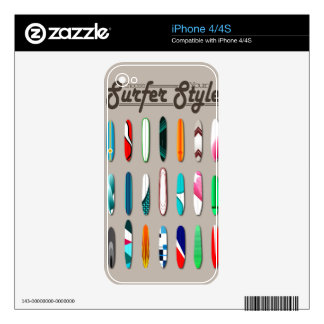 Surfing Choose you surfer style Decals For The iPhone 4S