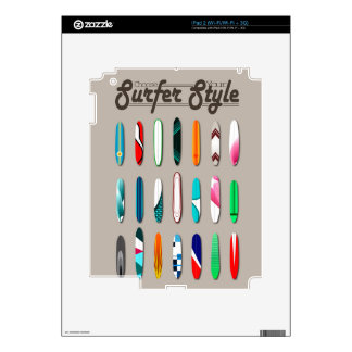 Surfing Choose you surfer style iPad 2 Skin