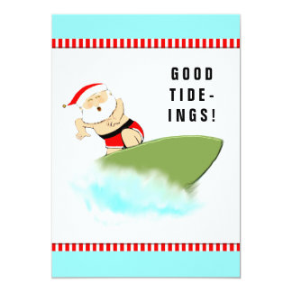 surfing Christmas Card