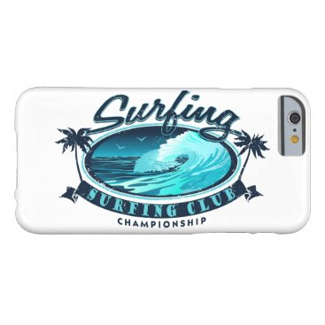 Beach Themed Surfing Club Barely There iPhone 6 Case