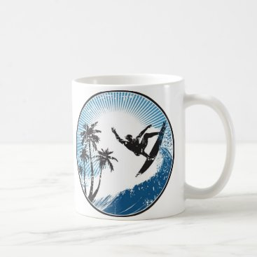 VectorGraphics Surfing Coffee Mug