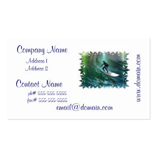 Surfing Competition Business Cards