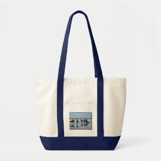Surfing Crowd Canvas Tote Bag