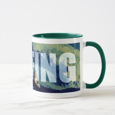 Coffee Themed Surfing Cup I'd Rather be Surfing Coffee Mug Cup