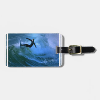 Surfing Curl  Luggage Tag