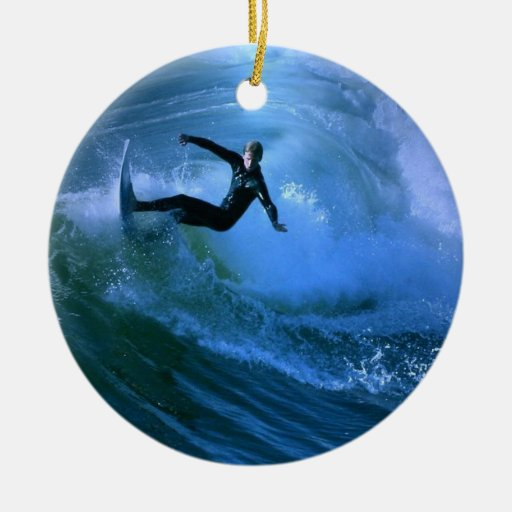 Surfing Curl Ornament