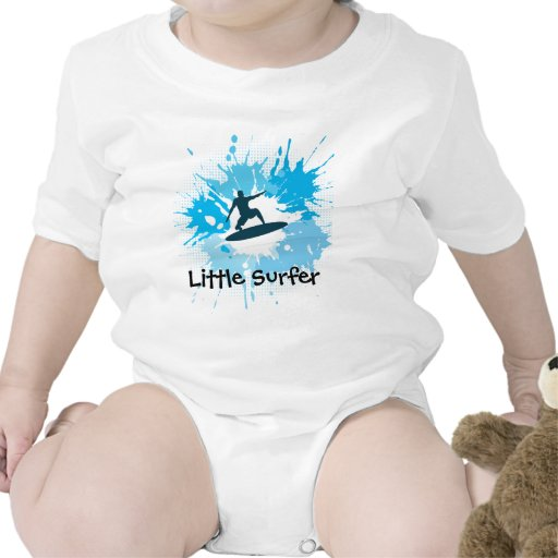 Surfing Customizable Baby Clothing Shirts