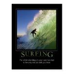 Surfing_Demotivational Poster Postcard