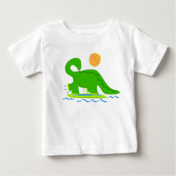 Surfing Dinosaur Cotton T-shirt